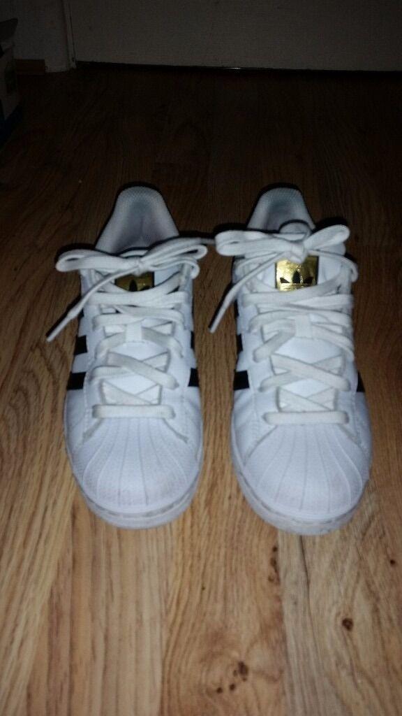 Original Adidas Superstar size 4, used twice