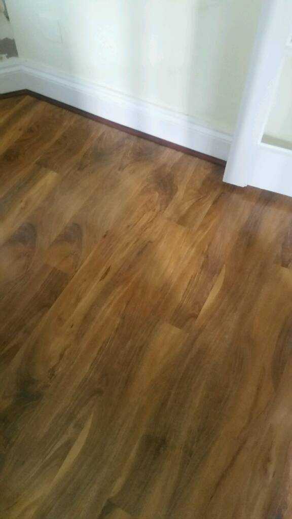 Gorgeous Walnut Effect Glossy Thick Laminate Flooring In Paignton