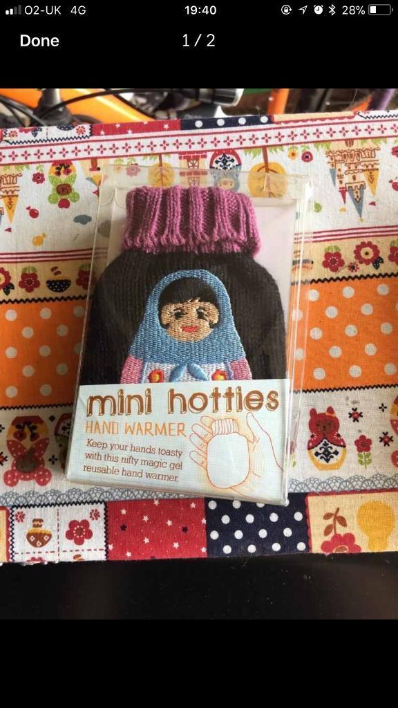 Brand new knitted mini Russian Doll hand warmer / Hottie - Unwanted ...