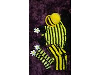womans bumble bee fancy dress outfit size 8