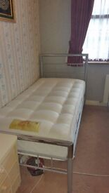 Single Bed (Frame & Mattress) Great Condition