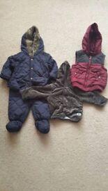 Baby Clothes - 6-9 Months Boys - Snowsuit & Coats