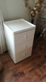 Solid IKEA Ivory (off white) drawer cabinet