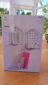 Set of 3 Wire House Shelves from NEXT....Still in box.