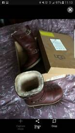 Ugg size 4.5 brown boots