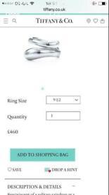 Tiffany tear drop ring. ITS REAL.