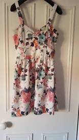 White floral Cameo Rose dress