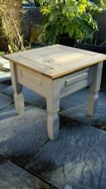 Corona pine shabby chic side/coffee table