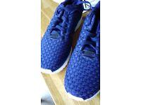 Brand new Adidas Originals ZX Flux blue trainers UK size 7.5 adult. Unworn.