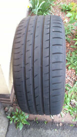 For sale. One Continental sport contact 3 tyre.