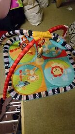 Colourful jungle baby gym