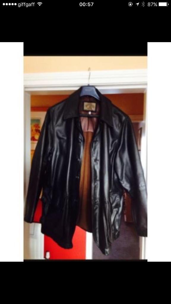 Armani Leather Jacket not Boss, Versace, Gucci, Louis Vuitton, Adidas, Nike