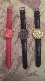new watches bundle unisex steampunk red gold