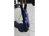 Golf bag and a few clubs