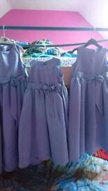 Hiya all here im selling two girls bridesmaid dresses