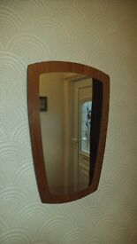 Retro Mirror with wood frame