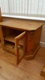 solid antique pine unit