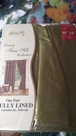 Pair of luxury Faux Silk Curtain