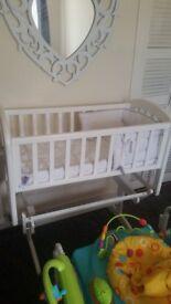 John Lewis Glider crib excellent condition