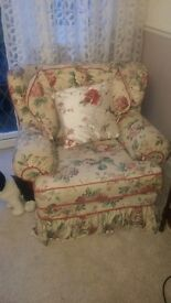 Two Chintz Design Armchairs