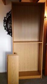 Ikea Billy Oak Veneer Wood Bookcase Shelf Good Cond!