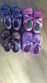 4 Pairs of CLARKS FIRST SHOES SIZE 4