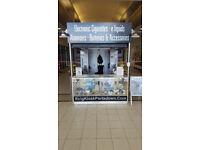 Shop Unit/Kiosk-Glass Display Counter With Led Lighting-CCTV Cameras
