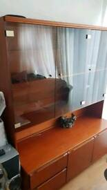 Glass Cabinet With Drawers