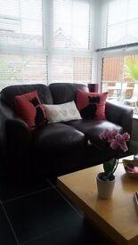 2 seater sofa dark brown for sale