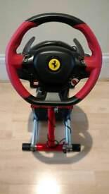 Xbox One Ferrari 458 Thrustmaster Steering Wheel and Wheel Stand Pro