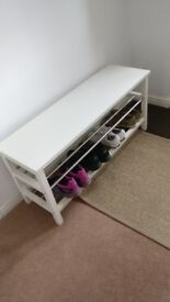 BENCH WITH SHOE STORAGE / SHOE RACK