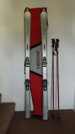 Blizzard 170 cm R17 Thermo Gel Race Freeride All Purpose Skis With Poles And Bag
