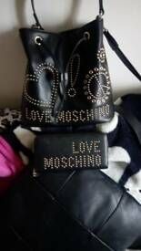 Moschino bucket bag with matching purse