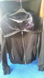 Marks & Spencers M&S Collection black zip up style cardigan. Sports or casual. UK 10.