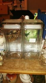 Glass Canisters - Containers storage kitchen