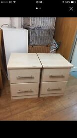 Pair of matching bedside tables