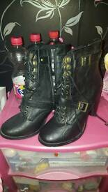 Black Heeled Boots size 6