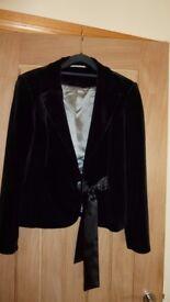 Black velvet jacket size 10