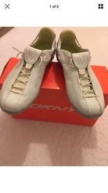 New DKNY trainers in original box white leather size 5 (38)