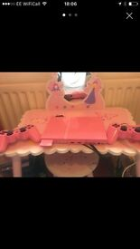Pink slim line ps2 with two controllers 20games and memory card