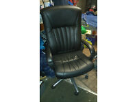 Computer Chair Black Leather