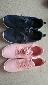 2 pairs of women's Primark trainers size 7