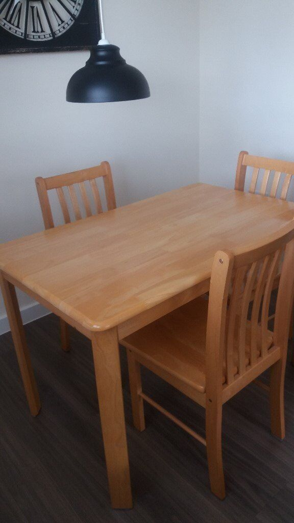 Dining Table And 3 Chairs In Ipswich Suffolk Gumtree