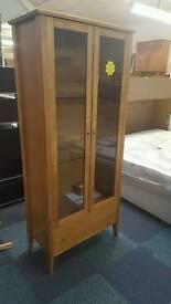 2door 1draw solid oak display