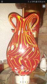 Murano Large Stunning Vase Hand Blown Glass