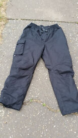 """Motorcycle Quilted Winter Overtrousers trousers """"Buffallo """" XXL"""
