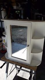 bathroom cabinet WOODEN WITH MIRROR & SHELVES