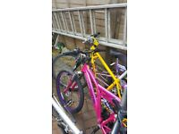 For sale 4 bikes