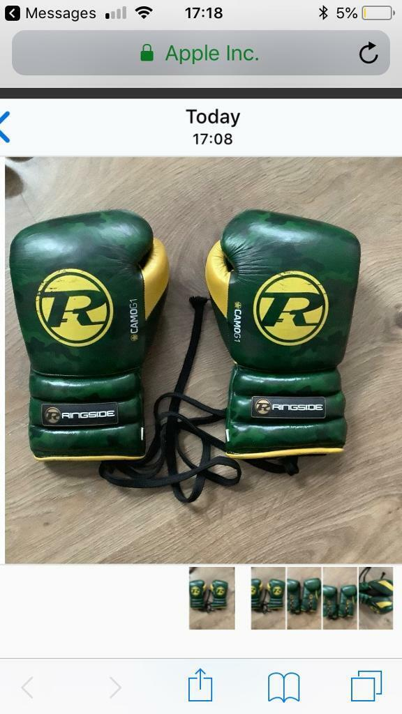 Ringside Camo G1 sparring/training gloves | in Audenshaw, Manchester |  Gumtree