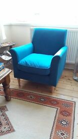 Blue Arm Chair for sale.